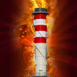 Chimney, industrial power, conceptual design - Stock Photo