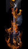 Burning Electric Guitar — Stock Photo
