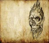 Tattoo-kunst, tod — Stockfoto