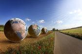 Fields of Earth, environment, saving world — Stock Photo