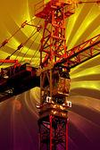 起重机,工业电源,概念设计 — 图库照片