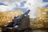 Medieval Canon at morrow, Denia Spain — Stockfoto