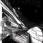 Starship, sci-fi picture — Stock Photo
