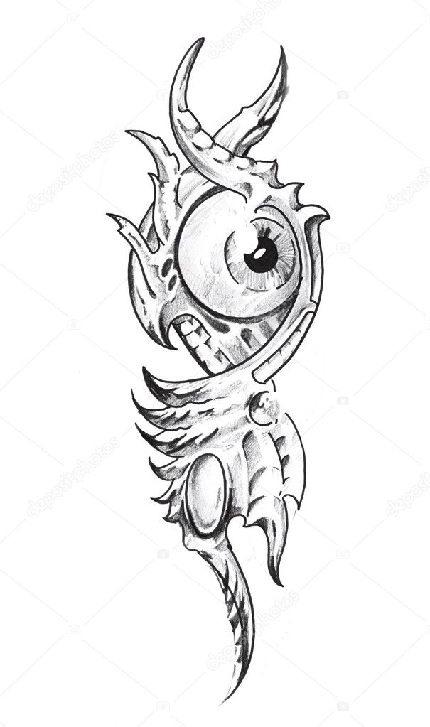 skizze der tattoo kunst mechanische auge stockfoto outsiderzone 8684124. Black Bedroom Furniture Sets. Home Design Ideas