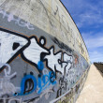 Street art, segment of an urban grafitti on wall — Stock Photo #8701704