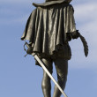 Stock Photo: Cervantes sculpture