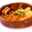 Madrid stew on earthenware pot, spanish food - Foto de Stock