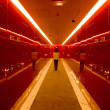 Red corridor - Stock Photo