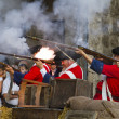 Stock Photo: Soldiers firing during re-enactment of War of Succession