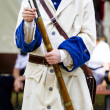 Soldier with carabiner and jacket during the re-enactment of the - Stock Photo
