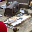 Soldiers preparing ammunition during the re-enactment of the War - 