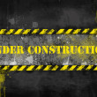 Under construction, poster, symbol. — Stock Photo