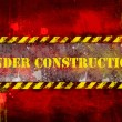 Stock Photo: Under construction, poster, symbol.