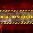Under construction, poster, symbol. — Foto Stock #8745810