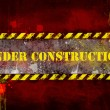Under construction, poster, symbol. — Stockfoto #8745810
