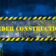 Under construction, poster, symbol. — Foto Stock #8745816