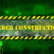 Foto Stock: Under construction, poster, symbol.