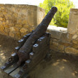 Stock Photo: Medieval Canon at morrow, DeniSpain