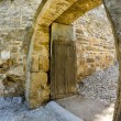 Arabic castle in Denia Spain, rear door - 