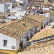 Typical Spanish village with white walls and red roofs, Denia Spain — Stock Photo #8749664