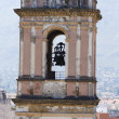 Stock Photo: Belltower and temple bells in Denia, Spain