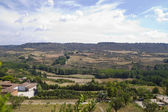 View along the river Tajo, with fields. Spain — Stock Photo