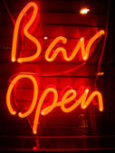 Bar open — Stock Photo
