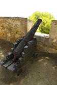 средневековый канон на морроу, дении испания — Стоковое фото