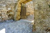 Arabic castle in Denia Spain, rear door — Stock Photo