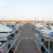 Boats moored in harbour near Denia, Spain — Foto de Stock
