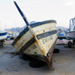 Ship in dry dock - Foto de Stock  
