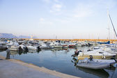 Boats moored in harbour near Denia, Spain — Stock Photo