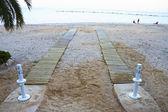 Wspaniały hiszpańskiej plaży latem — Zdjęcie stockowe