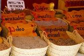 Pouliční prodejce léčivých bylin — Stock fotografie