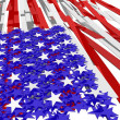 Stars and bars - Stock Photo