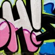 Street art, segment of an urban grafitti on wall — Stock Photo #8767776