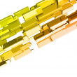 Stock Photo: 3d ingots with glossy light effects, gold bars