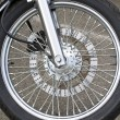 Stock Photo: Wheel of motorcycle