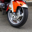 Wheel of motorcycle - Stockfoto