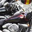 Side view of a custom motorcycle engine — Stock Photo #8779706
