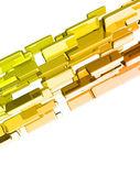 Parlak ışık efektleri, altın barlar ile 3d külçeler — Stok fotoğraf