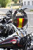 黑色摩托车头盔 — 图库照片