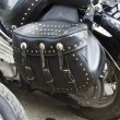 Stock Photo: Motorcycle Saddlebag