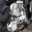 Closeup of big chromium motorcycle engine — Stock Photo #8780906