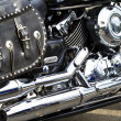 Stock Photo: Side view of custom motorcycle engine