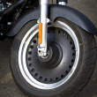 Wheel of motorcycle - Stock Photo