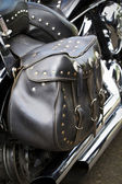 Motorcycle Saddlebag — Stock Photo