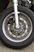 Wheel of motorcycle — Stock Photo
