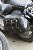 Motorcycle Saddlebag — Stock Photo
