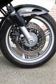 Wheel of motorcycle — Stock Photo